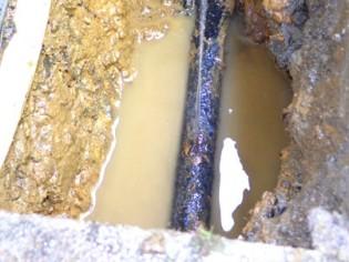 水漏れ・排水・つまり(ビフォー)
